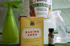 Air Freshener - this will actually absorb odors rather than covering them up. In a bottle that will create a fine mist, combine two cups of hot water, one teaspoon of baking soda, and one teaspoon of vinegar. Stir well until soda is dissolved. Put in a mist bottle. If you don't like the smell of vinegar, add a drop or two of any citrus essential oil.