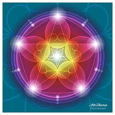 Diseño de Mandalas holograficos inspirado en la proporcion aurea y geometria sagrada. Paula Vallejos ©2012