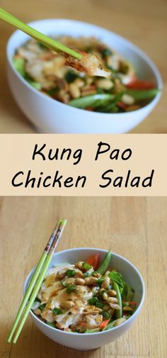 Delicious and simple kung pao chicken salad recipe for summer. Light recipe with minimal effort for a healthy weeknight dinner. Make ahead and dress before serving for a bbq or other entertaining. #SimpleSecret @walmart http://cbi.as/7wg-j AD