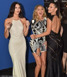 Time to celebrate! Bella Hadid and sister Gigi joined Kendall Jenner at the 2015 Harper's ...
