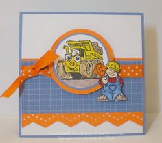IC227 Michigan... home of the orange construction barrels - Stamps: Stampin' Up! (2010)