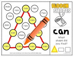 Math Mystery Shapes with Math and ELA combined! Learn shapes AND short vowel sounds while searching for the hidden shapes. Includes triangles, rectangles, and squares in different sizes and orientations Includes 7 Word Families Teaching Shapes, Teaching Tools, Teaching Ideas, Teaching Resources, Kindergarten Literacy, Math Classroom, Word Study, Word Work, First Year Teachers