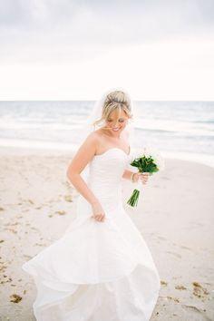 Beach Bridal Portraits PHOTO SOURCE • CHURCHILL'S PHOTOGRAPHY