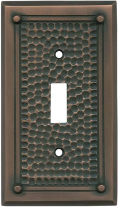 Hammered With Nails Antique Copper Wall Plates Outlet Covers