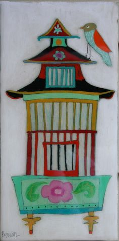Leslie Barron - reminds me of a pagoda.  Future Asian art project?