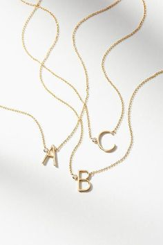 Monogram necklace || anthropologie || collective || affiliate