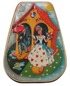 Horner's Candy Tin with Lithographed Weather House