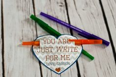 Valentine Printable  You Are Just WRITE for me in blue by LaurelStDesigns