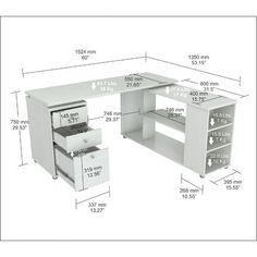 Inval L Shaped Computer Work Station Desk & Reviews | Wayfair