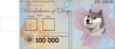 Dogecoin paper wallet on muchmarket.com