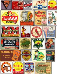 Signs, graphics and artwork for your model railroad. Vintage Labels, Vintage Signs, Vintage Ads, Vintage Posters, Advertising Signs, Vintage Advertisements, Christmas Train, Historical Artifacts, Model Train Layouts