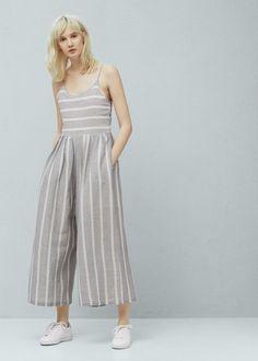 29b0ffbadd5c Striped cotton jumpsuit Cotton Jumpsuit