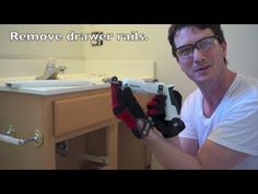 How to Remove a Bathroom Vanity - YouTube