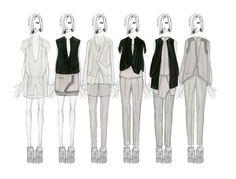 Fashion Sketchbook - fashion illustrations; collection lineup; fashion student portfolio // Peter Nguyen