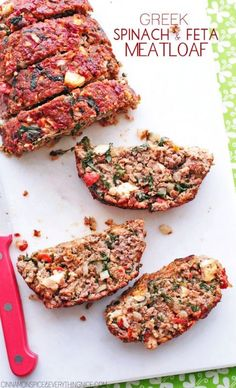 Greek Spinach and Feta Meatloaf Recipe - Cinnamon Spice and Everything Nice