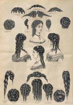 26 de marzo de 1869. El correo de la moda. Tutorial sobre peinados y postizos.