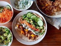 Vegan shoarma wrap met frisse komkommer-munt yoghurt - Lisa goes vegan