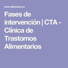 Fases de intervención | CTA - Clínica de Trastornos Alimentarios
