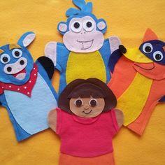 Dora-felt hand puppets