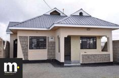 Modern Three Bedroom House Plans Inspirational 3 Bedroom House Plan Simple and Elegant for A Medium Size House Designs In Kenya, Brick House Designs, Modern Bungalow House Design, Simple House Design, Bungalow House Plans, 3 Bedroom Bungalow, House 2, Cheap House Plans, Affordable House Plans