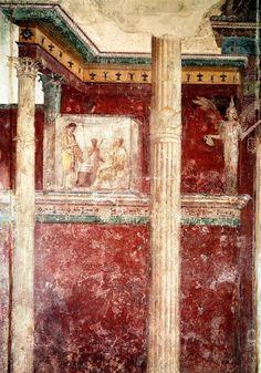 Del lujo y suntuosidad de la Domus Aurea dan fe los frescos que decoran su criptopórtico, un pasadizo cubierto que daba acceso a la residencia imperial.