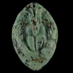 BH11404# Natural Hand Carved Angel turquoise Pendant Bead Gemstone