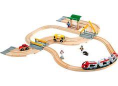 BRIO sæt med skinner og vejbaner