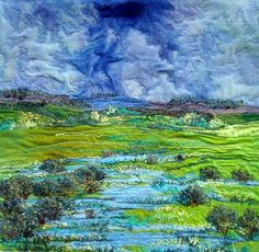 art quilts landscapes | Cindy Hoppe | Quilts I love