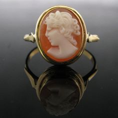#Vintage #Cameo #18K #Gold #Ring €495 #Jewelry #The #Antiques #Room #Galway #Ireland Vintage Diamond, Vintage Rings, Unique Vintage, Vintage Jewelry, Diamond Rings, Diamond Engagement Rings, Gold Rings, Gemstone Rings, Cameo Ring