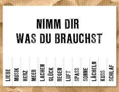 """""""NIMM DIR WAS DU BRAUCHST"""" Postkarte von SuesseDinge"""