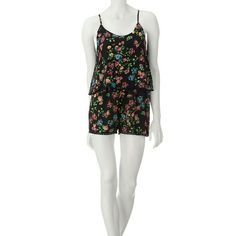 Precious Little Short Romper SZ M-Brand New ??GORGEOUS little romper in Sz M by Liberty love! Cute as can be!! See pics for details. Black Floral....JUNIOR SIZING Liberty Love Shorts