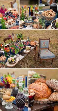 Hunger Games themed wedding table.