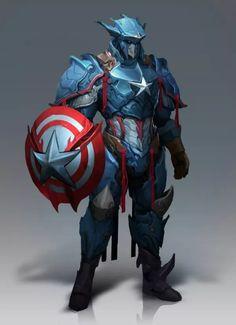Captain America, Thor And Black Panther Get Kick Ass Fantasy Armor