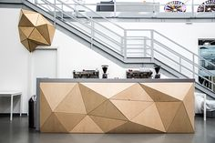Biesse, leader company in the world of cnc machines, decided for a restyling of it's showroom in Pesaro, found in Wood-Skin the perfect company and material.