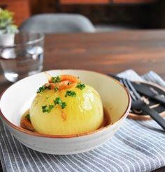 材料1つ【レンジ】丸ごと玉ねぎのガリバタ蒸し *鶏肉の冷凍つくりおきレシピ5選*