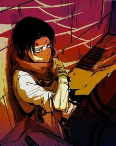Shingeki no Kyojin | Attack On Titan | Anime | Boy | Badass | Heichou | Rivaille | Levi Ackerman | Art