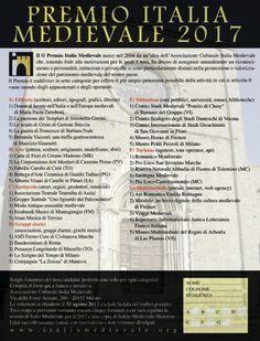 Premio Italia Medievale: Il © Premio 2017 sulla rivista Medioevo