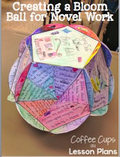Coffee Cups and Lesson Plans: Reading Comprehension with Bloom Balls. Teacher your students higher order thinking skills in a creative way and get them to connect on a deep level with their book!