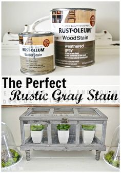 The perfect rustic Gray stain = Driftwood + Weathered Gray Furniture Projects, Furniture Makeover, Diy Furniture, Wood Projects, Furniture Refinishing, Nursery Furniture, Do It Yourself Furniture, Paint Stain, Chalk Paint