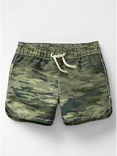 Camo swim trunks