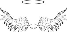 Angel Wings Vector Art | Angel Wings with Halo
