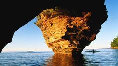 Apostle Islands, Lake Superior, Wisconsin #kayaking #travel
