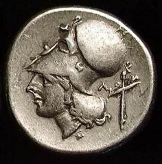 Pegasus The Flying Horse & Head of Athena Silver Greek Coin- CORINTH TYPE AR STATER. EF. PEGASUS FLYING/ HEAD ATHENA WEARING CORINTHIAN HELMET. BETTER THAN PHOTO: CORINTHIAN TYPE STATER. EF. Surface better than image shows. In Greek religion and mythology, Athena or Athene, Athana), also referred to as Pallas Athena/Athene, is the goddess of wisdom, courage, inspiration, civilization, law and justice, just warfare, mathematics, strength, strategy...