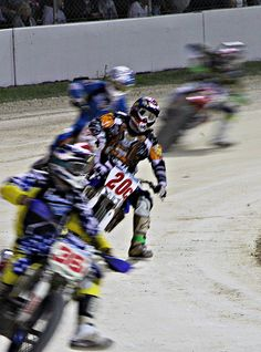 Flat track racing at Daytona International Speedway, 2012.  SunnyRyder Photography