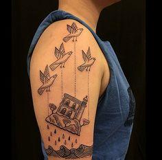 Tattoo by Duke Riley | Flickr - Photo Sharing!