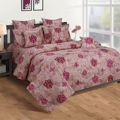 Buy this Pink Block Printed Zinnia Bed in a Bag Set online at best prices.#beddingsets #bedsheetset #bedfittedsheets #beddingsetsonline #cottonbeddingsets Bed Sheets Online, Bedding Sets Online, Pillow Covers Online, Wooden Street, Fitted Bed Sheets, Cotton Bedding Sets, Bed In A Bag, Amazing Spaces