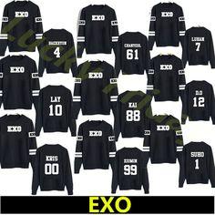 kpop exo kar sehun xiumin baekhyun terra  sticker sweatshirt  women sweatshirt women exo hoodies harajuku exo