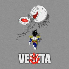Dragon Ball T-Shirt in the style of Akira. Art by ddjvigo. Show everyone that you are a fan of Vegeta from Dragon Ball with this Akira parody t-shirt. Manga Anime, Comic Manga, Anime Art, Comic Books Art, Comic Art, Akira Poster, Dragon Ball Z Shirt, Fanart, Cartoon Crossovers