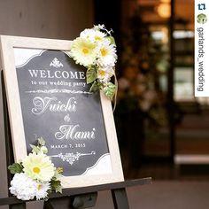 #Repost @garlands_wedding with @repostapp. ・・・ #welcomeboard