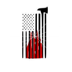 SVG - US Flag and Fire Axe - Fireman - US Flag - Fire Flag - Tattered Flag - Fire Axe - Tshirt Design - Tshirt svg - Fireman Tshirt - Cricut